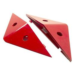 Viper Low Profile End Bevels - Set Of 2 - Galvanized Red - 12320e
