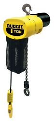 Cmco - Budgit Behc0116-3ph Electric Chain Hoist - 1 Ton 15and039 Lift Hook Mount