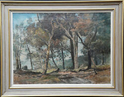 Oliver Hall Ra British Impressionist Art 1930and039s Wooded Landscape Oil Painting