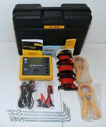 Fluke 1625 Kit Advanced Geo Earth Ground Tester Stakes Cable Reels Clamps