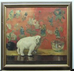 Ruth Payne Burgess 1924 Still Life With Figurine And Asian Background Listed