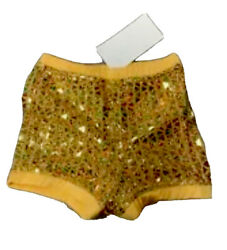 Childandrsquos Xs Gold Sparkly Sequin Cheer Dance Boy Cut Short Spankie Bloomers Nwt