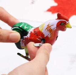 Wind Up Bird Rooster Tin Toy Vintage Retro Collectable Clockwork Animal Gift Uk