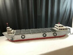 Primitive Hand Built Scale Model Cargo Passenger Ship S.s. Ludwig Boat Freighter