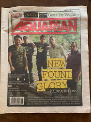 New Found Glory Full Magazine Aquarian Weekly 2013 Rare Vintage Cover Band Music