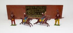 Perfection Toys Lead Toy Soldier Figure American Indians Boxed Set Britains Rare