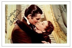 Clark Gable And Vivien Leigh Signed Photo Print Autograph Gone With The Wind