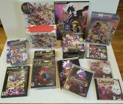 Disgaea Lot - 1 2 3 4 5 D2 Ps2 Ps3 Psp Ds + Strategy Guides Cd Soundtrack