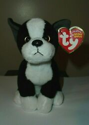 NMT* Ty Beanie Baby - TUX the Boston Terrier Dog - MINT with NEAR MINT TAGS