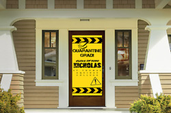 Quarantined Graduation Sign Personalized Vertical Banner Front Door 30 X 6and039
