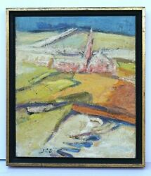 Original Oil Painting By Charlotte Sherman Vintage 1960's Abstract Modern