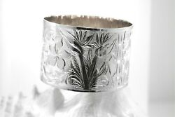 50mm 925 Ster Silver Custom-made Personalized Hawaiian Garden Of Paradise Bangle