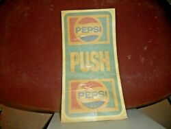 Vinyl Decal Pepsi Door Push Plate Peel And Stick Push Decal Never Used