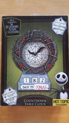 Disney The Nightmare Before Christmas Countdown Table Clock