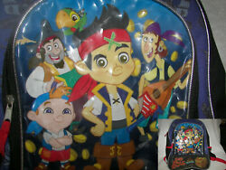 Jake and the Never Land Pirates Backpack 16 x13quot; wow 4 compartments wow $7.00