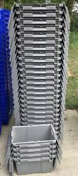 79 Lewis Fp06 Grey Storage Containers/tote/stack N Nest Flipak 11x15x9