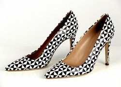 New J. Crew Falsetto Printed Leather Pumps Retail 278 Style A0789