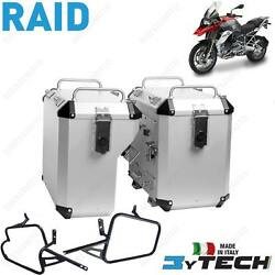 Suitcases Aluminum Silver Mytech 41+ 47 L And Frames Bmw 1200 R Gs K50 13/16