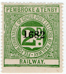 I.b Pembroke And Tenby Railway Letter Stamp 2d