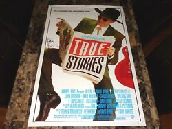 David Byrne Rare Signed True Stories 1-sheet Movie Poster The Talking Heads Coa