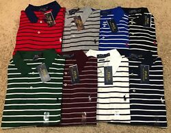 NEW POLO RALPH LAUREN SOFT TOUCH CLASSIC FIT MENS STRIPED SHIRT MSRP 85.00