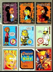 2002 The Simpsons Mania Complete Basic Trading Card Set