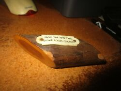 Vintage quot;From The Yew Treequot; Stoke Poges Church Wood England Souvenir