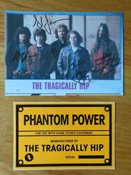 Rare Tragically Hip Signed Photo And Pc Gordon Downie Sinclair Baker Langlois Fay
