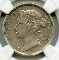 Hong Kong 1868 Silver 20 Cent, Queen Victoria, Ngc Graded Xf40