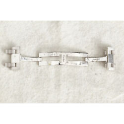 White Gold Tank Americain Buckle Clasp 100 Authentic Item 94675