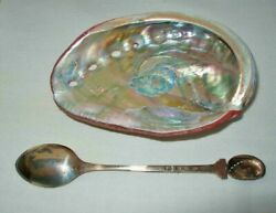 Exquisite Pair Martyn Guille New In Box Signed Mg Sterling Spoon And Abalone Shell
