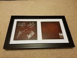 Machine Head The Burning Red Signed Autograph Framed Cd Robb Flynn+3 F