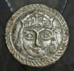 1500s Medieval Button Or Military Decoration Depicting A King Or Nobleman.rare