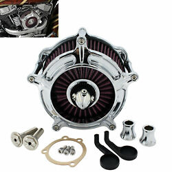 Chrome Turbine Air Filter Intake Cleaner For Harley Sportster Iron XL 1200 883 $80.99