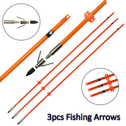 Fishing Shooting Hunting Fish Arrows With Broadheads Safety Slider High Quality!