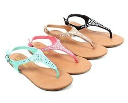 4 Color Rhinestons Kids Strap Buckle Summer Girls Sandals Youth Casual Shoes $14.99