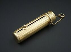 Antique Decorative 14k Yellow Gold Lipstick Holder 2 Collectible 12g Co566
