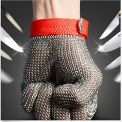 New Safety Cut Proof Stab Resistant Stainless Steel Gloves Metal Mesh Butcher