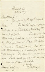 Rutherford B. Hayes - Autograph Letter Signed 07/02/1887