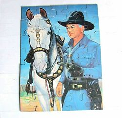 1950s Hopalong Hop-along Cassidy Western Puzzle Kagran Toy Co 9x12 Free Sh