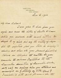 Grover Cleveland - Autograph Letter Signed 12/06/1900