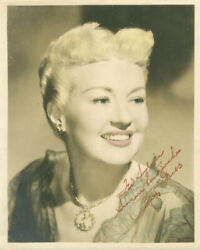 Betty Grable - Inscribed Photograph Signed