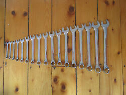 Vintage Set Of 17 S-k Mm Combo Combination Chrome Wrench Wrenches Nos Read 12 Pt