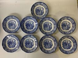 Liberty Blue Old North Church Saucer Historic Colonial Scenes Made In England 9