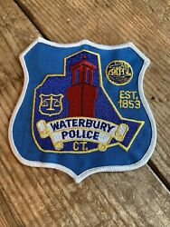 Waterbury Ct Connecticut Police Shoulder Patch New