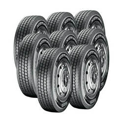8 Tires 11r24.5 Pirelli D-h89 Drive 16 Ply M 149/146 Commercial Truck