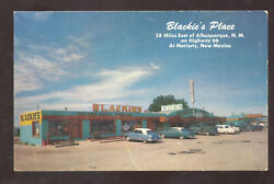Moriarty New Mexico Blackies Place Restaurant Route 66 Advertising Postcard
