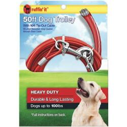 Westminster Pet Ruffinand039 It 50 Ft. Red Steel Dog Cable Trolley 12 Pk