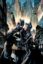 Jim Lee Hush Giclee On Canvas Signed-batman And Catwoman