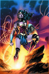 Jim Lee Wonder Woman Goddess Of Truth Giclee On Canvas Signed